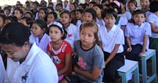 Burmese migrants' children ready to learn!