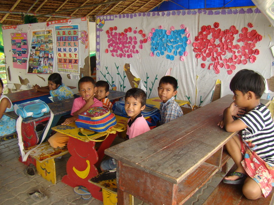 Kids at one of FED's Learning Centers