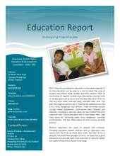 Education Report (PDF)