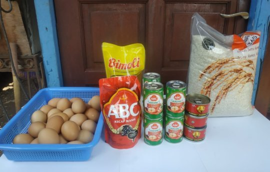 The food donation they received
