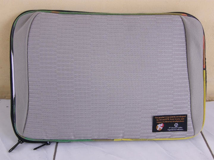 """15"""" Laptop Sleeve  made from car seat covers"""