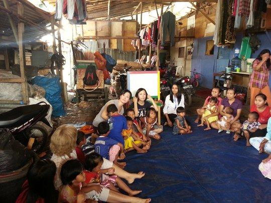 XSVillage Pre-Schoolers with JIS Peduli Volunteers