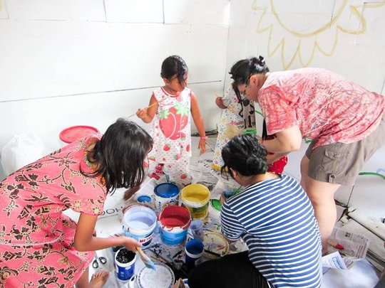Designers Helping the Children Paint