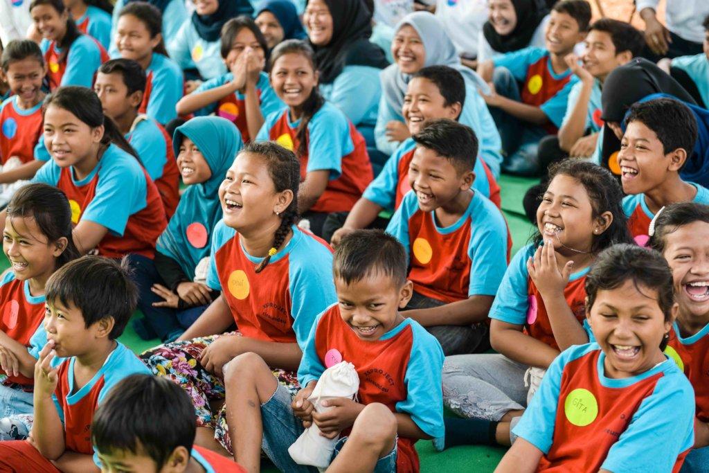 The children enjoyed the story telling session