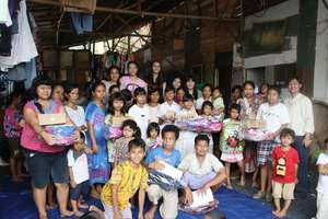 XS students receive new school supplies and shoes