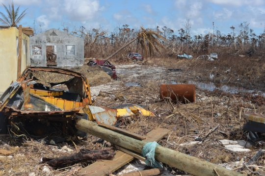 Mcleans Town destroyed after Hurricane Dorian