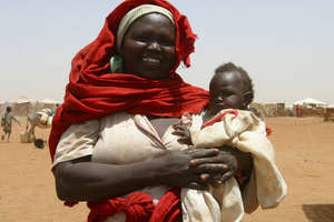 Darfur Woman and Child