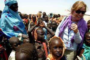 Jane Wells in Darfur, Sudan