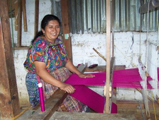 Weaving makes Lila happy.