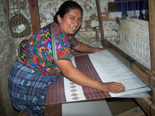 Lili loves to spend her time weaving