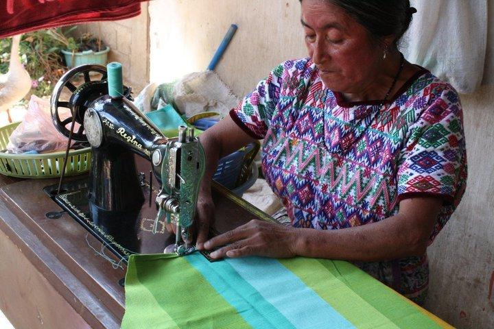 Margarita and her sewing machine