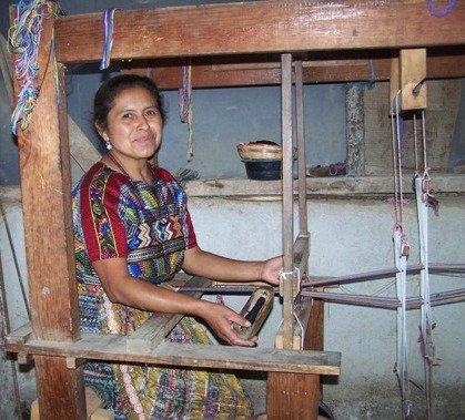 Maria Elena at her loom