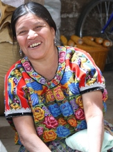 Francisca is happy to have a steady income.