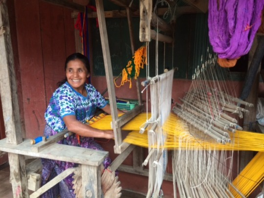 Micro-loans are used to expand weaving businesses.
