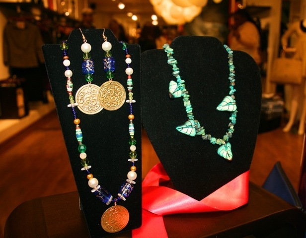 Handmade jewelry with coins and clay by our DC JewelGirls team