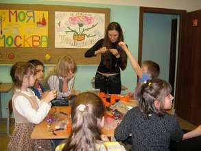 Elena teaching Russian JewelGirls in Moscow