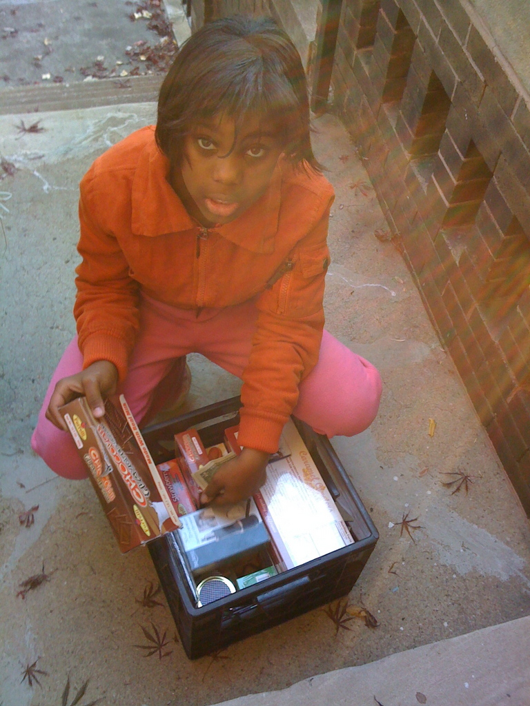 Young D.C. Girl Selling Candy/Begging  on the Streets