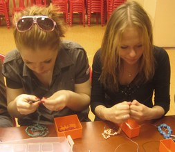 Making jewelry at FAIR Fund in St. Petersburg