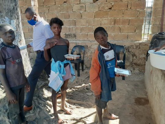 Children on the streets supported by outreach team
