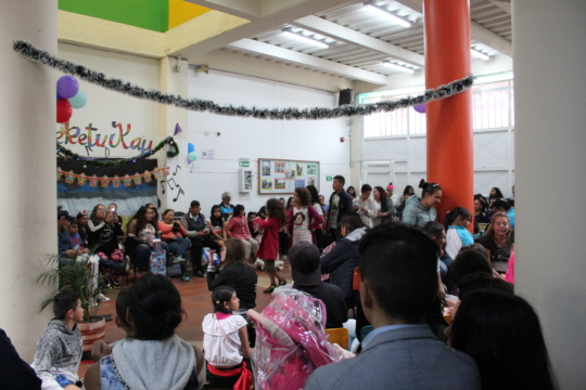 Christmas celebration with families
