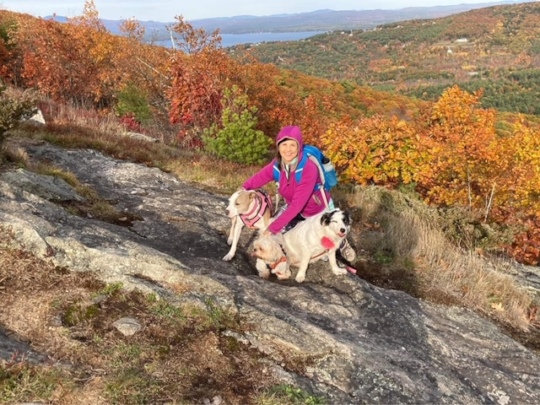 Sweetie on a hike with her family