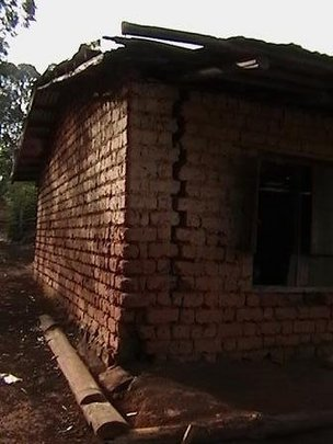Deteriorating house as refuge for disabled