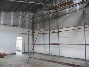 Raw materials storage room under construction.