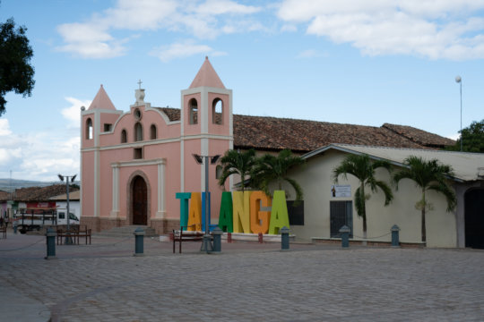 Empty streets in Talanga, Honduras are now a norm.