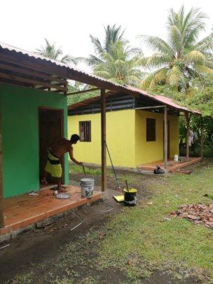 freshly painted cabins!
