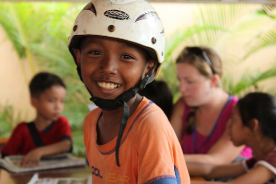 Kosal in Siem Reap after school.