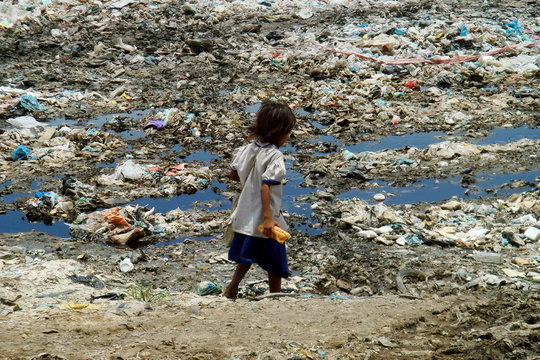 Girl Goes Home on Garbage Dump