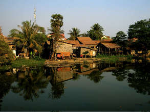 Homes Across the River in Siem Reap