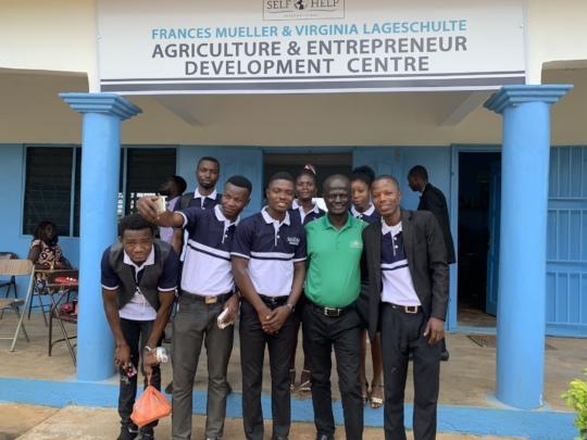 The cohort with Country Director, Benjamin Kusi