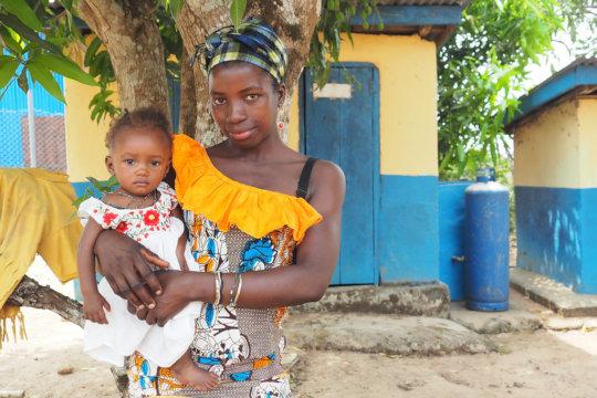 Binty and Isatu at Kagbere Health Centre