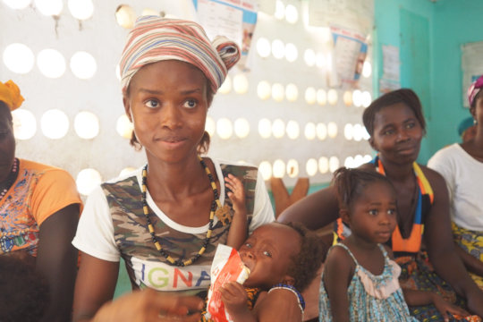 Humu and Bilkish visit the malnutrition clinic