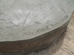 Leaving our mark on the polytank stand!