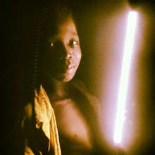 Boy in Wambong with his new latern