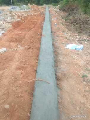 Ashagram inner safety wall - work progress