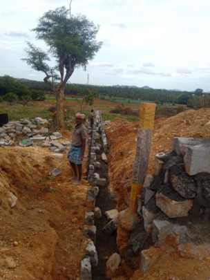 Ashagram Inner Wall Construction work in Progress