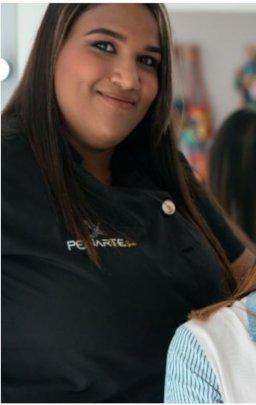 Maria Jose at her beauty salon