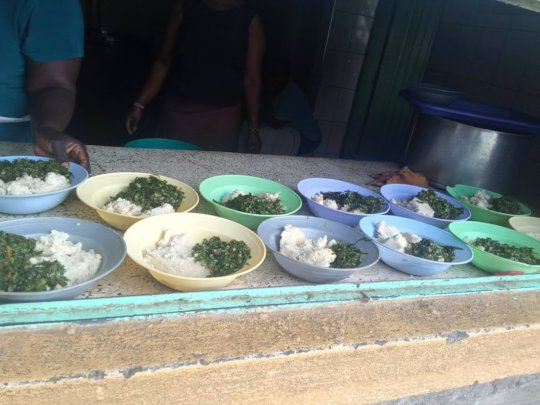 Plates of Veges and Ugali