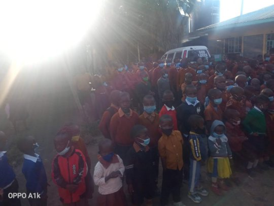Pupils in Nairobi projects