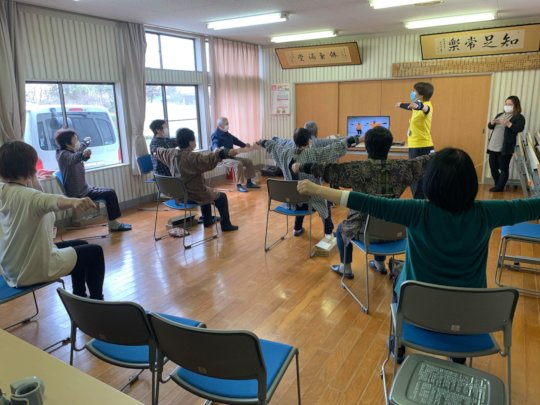 A scene from Iki-100 activity @ Dotesaki Community