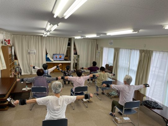 A scene from Iki Iki 100 Years Old Exercise