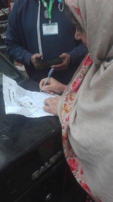 Nabila signed on acknowledgement