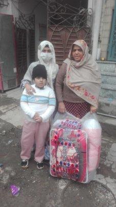 Nabila happy received blanket and matress