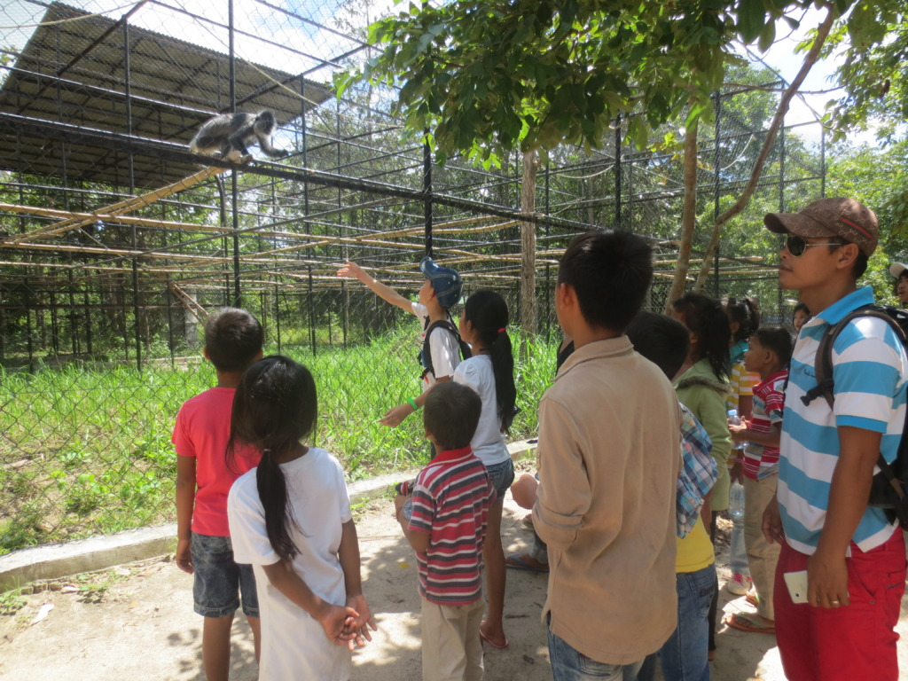 Cambodian students and visitors at the Center