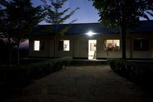 Solar lighting at a rural school