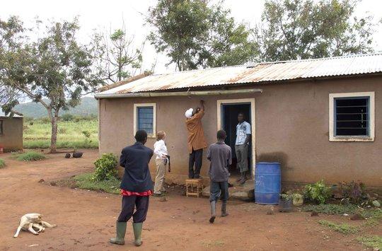 Typical rural Tanzania TanzSolar solar home.