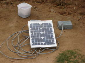 10 W solar panel used with 4 LED light system